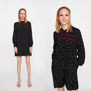 NWT Zara Size XS Contrasting Topstich Jumpsuit